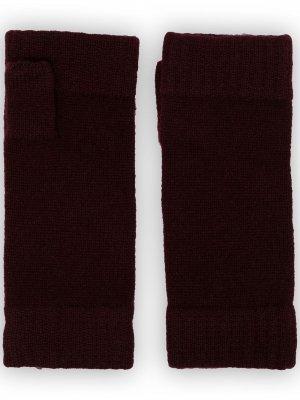 Перчатки-митенки N.Peal. Цвет: черный