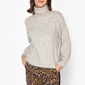 Пуловер с воротником из тонкого трикотажа ZADORA SESSUN. Цвет: серый