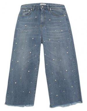 Джинсовые брюки-капри TOY G.. Цвет: синий