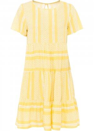 Платье с узором bonprix. Цвет: желтый