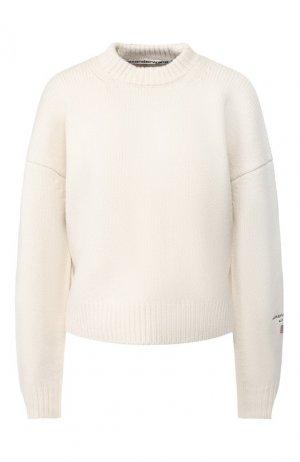 Шерстяной свитер Alexander Wang. Цвет: бежевый