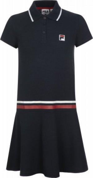 Платье для девочек , размер 128 FILA. Цвет: синий
