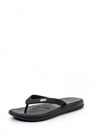 Сланцы Nike Womens Solay Thong. Цвет: черный