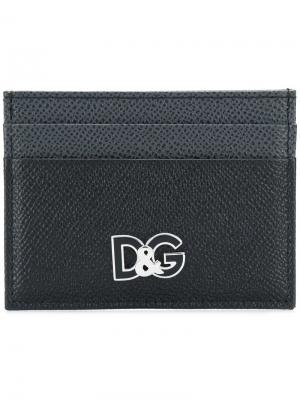 Визитница с логотипом Dolce & Gabbana. Цвет: черный