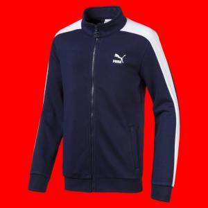 Детская олимпийка Classics T7 Track Jacket B PUMA. Цвет: синий
