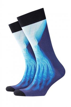 Синие носки X-Ray Print Burlington. Цвет: черный