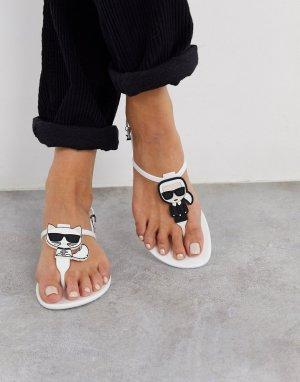 Белые сандалии из гибкого пластика -Белый Karl Lagerfeld