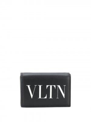 Кошелек с логотипом VLTN Valentino Garavani. Цвет: черный