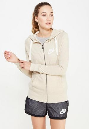 Толстовка Nike Sportswear Gym Vintage Womens Full-Zip Hoodie. Цвет: бежевый
