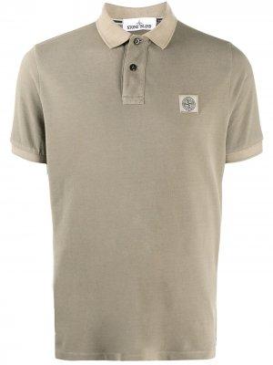Cotton-pique polo shirt Stone Island. Цвет: нейтральные цвета