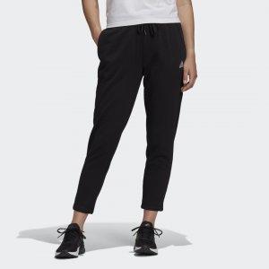 Зауженные брюки Essentials 7/8 Sportswear adidas. Цвет: черный