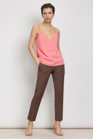 Классические прямые брюки VASSA&Co. Цвет: коричневый