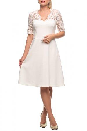 Платье Петербургский Швейный Дом. Цвет: белый