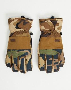 Зеленые камуфляжные перчатки Kera-Зеленый цвет Billabong
