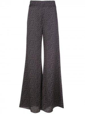 Расклешенные брюки Minna Alexis. Цвет: синий