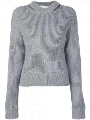 Пуловер крупной вязки в рубчик Proenza Schouler White Label. Цвет: серый