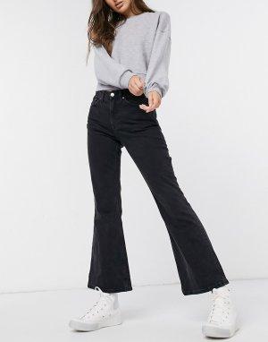 Черные расклешенные джинсы Wave-Черный цвет Weekday