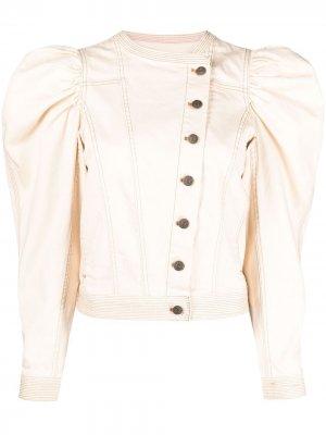 Джинсовая куртка Hart с пышными рукавами Ulla Johnson. Цвет: нейтральные цвета
