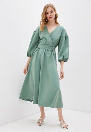 Платье Bezko. Цвет: бирюзовый
