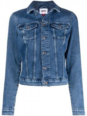 Джинсовая куртка Tommy Hilfiger. Цвет: синий