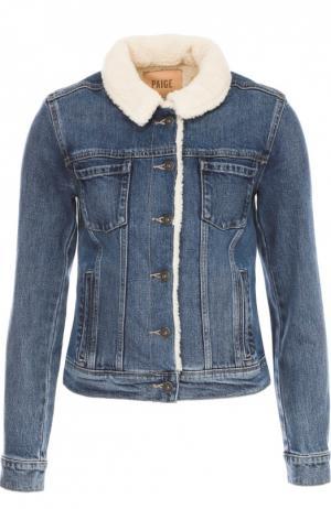 Джинсовая куртка с отложным воротником Paige. Цвет: синий