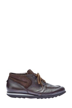 Кожаные ботинки-топсайдеры на подкладке из меха BARRETT. Цвет: коричневый