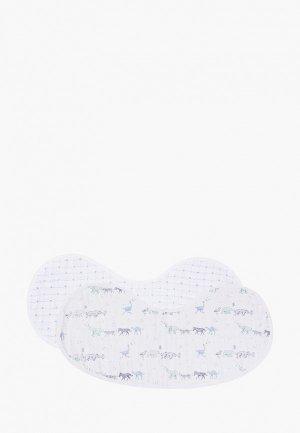 Слюнявчики 2 шт. aden+anais reversible, серия Rising star, 25х32 см. Цвет: белый