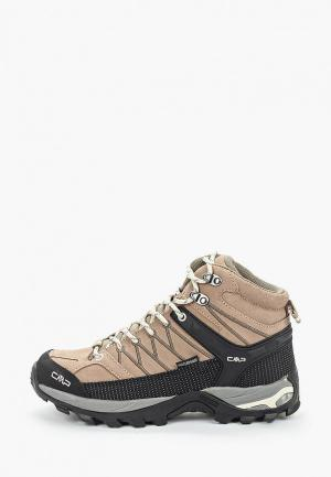 Ботинки трекинговые CMP RIGEL MID WMN WP. Цвет: коричневый
