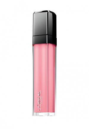 Блеск для губ LOreal Paris L'Oreal Infaillible, Мега Блеск, Безупречный, кремовый, оттенок 101, Верх совершенства, 8 мл. Цвет: розовый