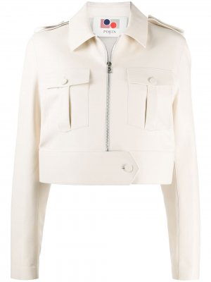 Укороченная куртка на молнии Ports 1961. Цвет: нейтральные цвета