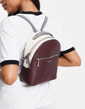 Сумка-рюкзак темно-бордового цвета Anouk-Красный Fiorelli