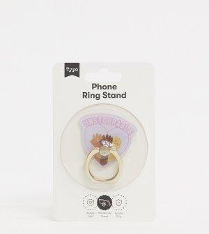 Эксклюзивное кольцо-подставка для телефона с надписью unstoppable Typo-Мульти TYPO