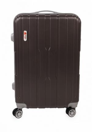 Чемодан Global Case 42 л (S). Цвет: коричневый