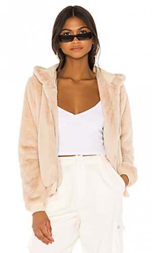 Куртка с капюшоном marissa superdown. Цвет: цвет загара