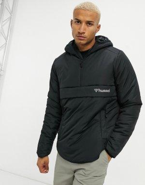 Черная куртка с короткой молнией Chase-Черный Hummel