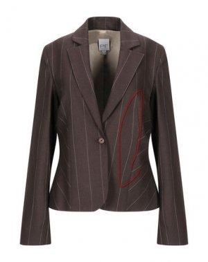 Пиджак PAOLA FRANI. Цвет: темно-коричневый