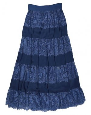 Длинная юбка HANITA. Цвет: темно-синий