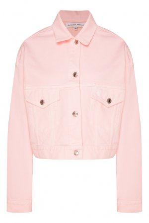 Розовая джинсовая куртка Alexander Terekhov. Цвет: розовый