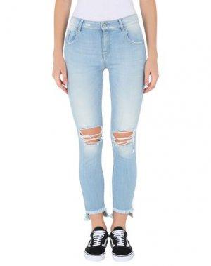 Джинсовые брюки-капри MET. Цвет: синий