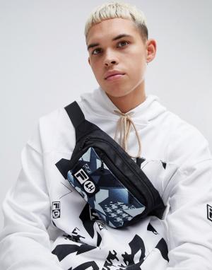 Сумка-кошелек на пояс с принтом x Liam Hodges ML3 Fila. Цвет: черный