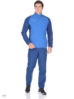 Костюм спортивный PUMA. Цвет: голубой, синий