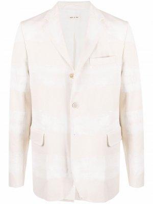 Однобортный пиджак в полоску Marni. Цвет: нейтральные цвета