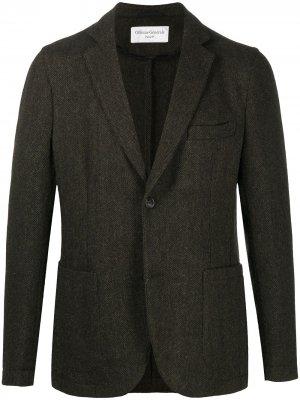 Однобортный пиджак строгого кроя Officine Generale. Цвет: зеленый