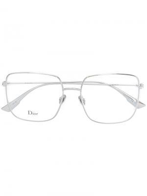 Очки Stella Dior Eyewear. Цвет: золотистый