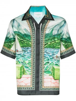 Рубашка Lake View из коллаборации с Browns 50 Casablanca. Цвет: синий