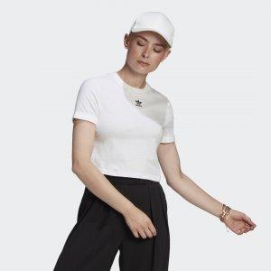 Кроп-топ Adicolor Classics Originals adidas. Цвет: белый