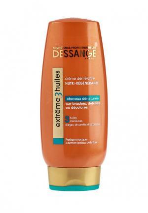 Крем для волос Dessange Extreme, 3 масла, экстремальное восстановление, сильно поврежденных волос, 200 мл. Цвет: белый