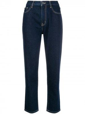 Cropped straight leg jeans Current/Elliott. Цвет: синий