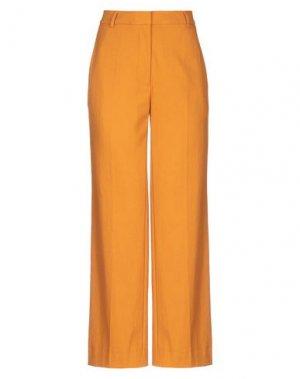 Повседневные брюки JUST FEMALE. Цвет: охра