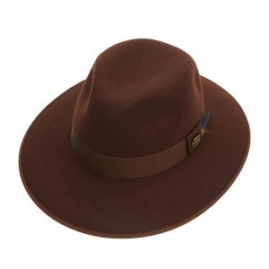 Шляпа федора CHRISTYS. Цвет: коричневый